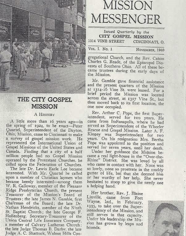 City Gospel Mission history